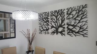 Cuadro De Metal Decorativo Árbol De La Vida 3 Pza