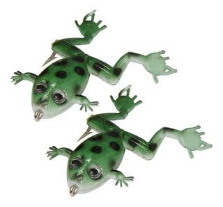 Isca Sapinho Frog Artificial Maruri 6 Cm Pacote Com 2 Verde
