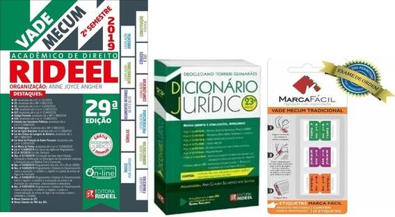 Vade Mecum Acadêmico Direito Rideel + Dicionário + Etiquetas