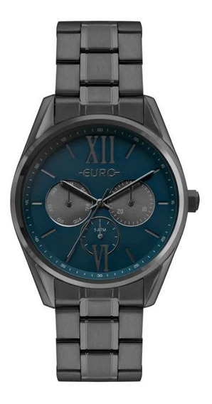 Relógio Euro Multiglow Grafite Feminino Eu6p79ab/4a