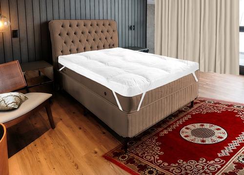Pillow Top King 200 Fios Com Enchimento Manta Siliconada