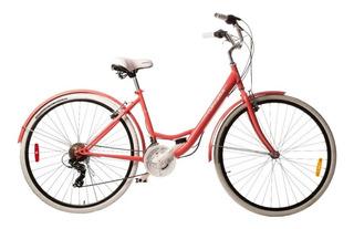 Bicicleta Paseo Top Mega Lady Dama Rod.28 18vel + Inflador