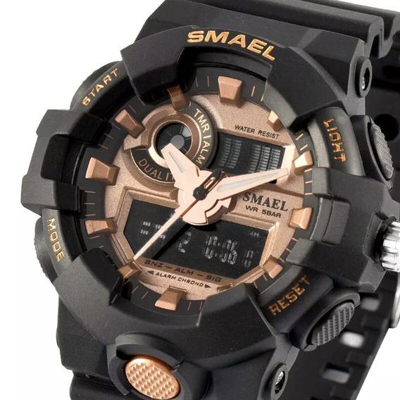 Relógio De Pulso Masculino Smael Casual Analógico Digital