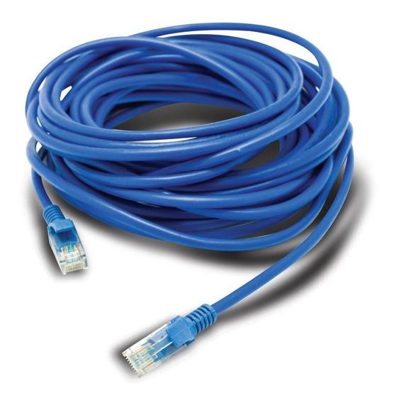 Cabo De Rede 10m Ethernet Lan Rj45 Cat5e Azul C/ 10 Metros