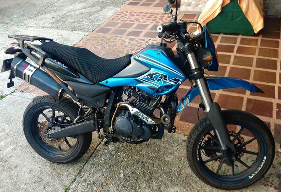 Moto Akt Xm 180 Azul