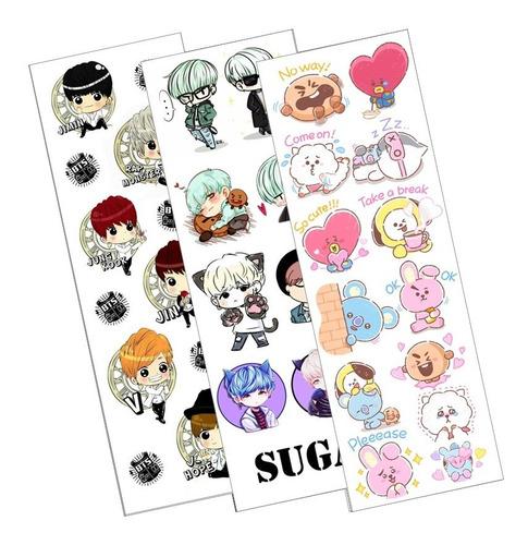 Plancha De Stickers De K-pop Bts