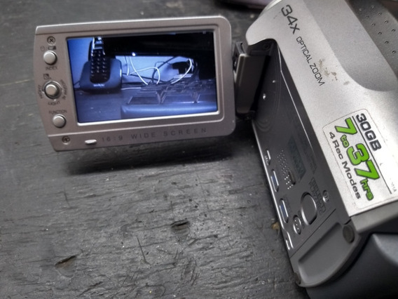 Filmadora Jvc Hibrida Everio Gz-mg130u 30gb Hdd + Sd