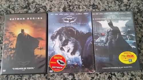 Dvd Trilogia Batman - O Cavaleiro Das Trevas - 3 Dvds