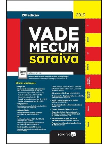 Vade Mecum Tradicional 28ª Edição 2019 - Saraiva 2º Semestre
