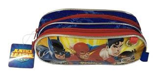 Cartuchera Justice League 2 Cierres Escolares Nene Disney