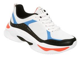Tênis Azaleia Chunky Sneaker Feminino - Preto E Azul