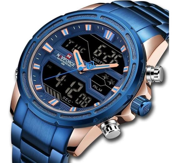 Relógio Masculino Naviforce Nf9138 Analógico E Digital Jk