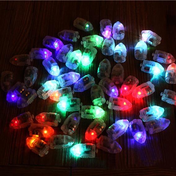 10 Capsulas Multicolor Rgb Led P/ Deco Globo Farol Cotillon