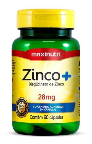 Imagem 1 de 3 de Zinco Complex Com 60 Cápsulas - Maxinutri