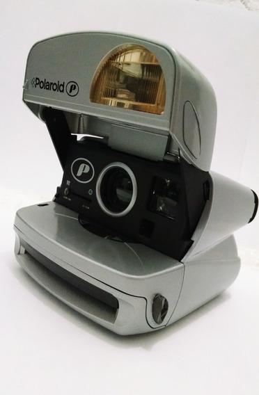 Polaroid P 600 Prata Câmera Fotográfica Raro Para Decoração