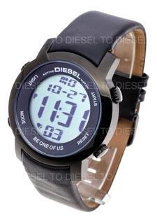 Reloj Diesel Hombre 6407 063 Digital Acero Cuero Sumergible