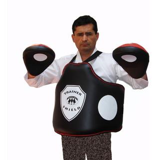Kit Trainer Shield Peto Para Entrenador Y Manoplas Curvas