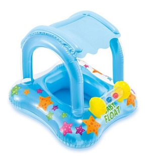 Salvavida Flotador Techo Protector Sol Bebe Intex 21567/5 Mm