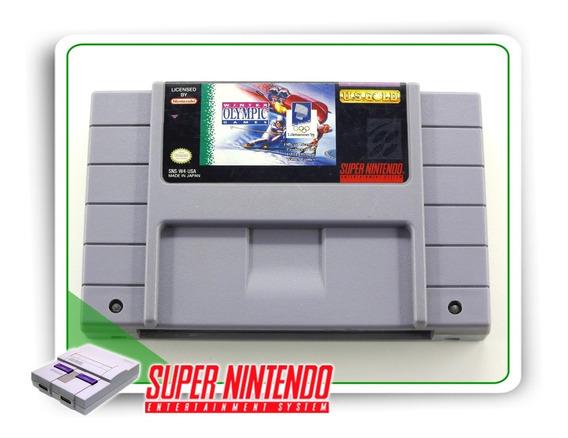 Winter Olympic Games Original Super Nintendo Snes