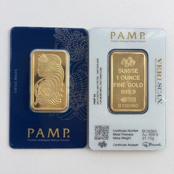 Onza Palm Suisse De Oro Puro 24 Moneda Centenario