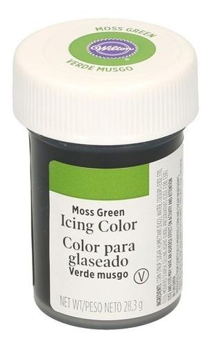 Imagen 1 de 5 de Gel Colorante Para Glaseado Verde Musgo Original