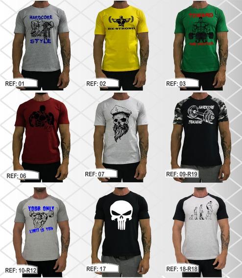 Kit 2 Camiseta Academia Masculina T-shirt Treino Estampada
