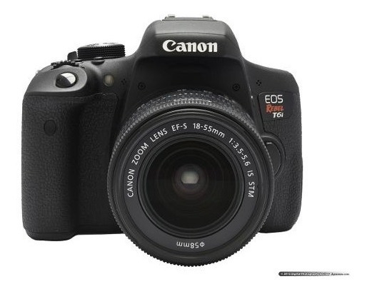 Camera Profissional Canon Eos Rebel T6i Dslr 18-55mm Is Stm