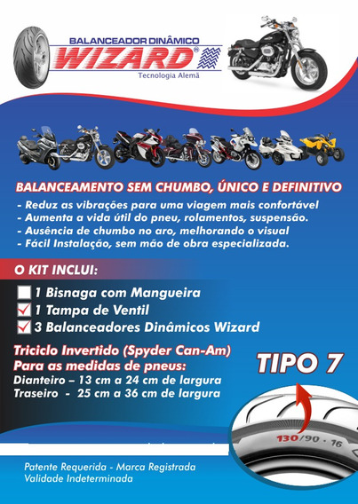 Balanceamento Triciclo Can-am Pneu 250 A 360mm 12 Unidades
