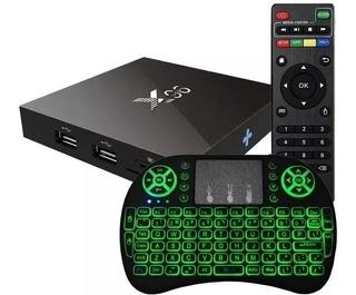Conversor Smart Convertir Tv Box 2/16gb Android X96+ Teclado