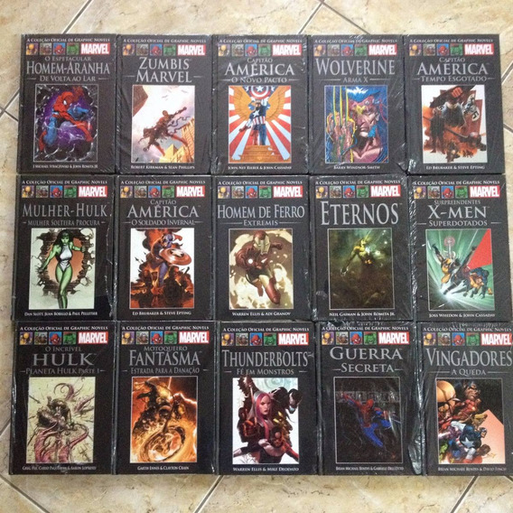 Kit 4 Livros Coleção Oficial De Graphic Marvel- Lacrados