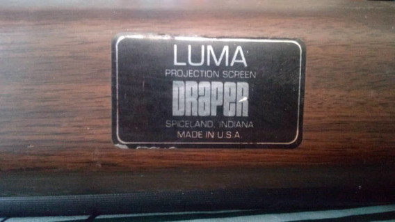 Pantalla De Video Bean Luma Draper U.s.a Pared / Techo