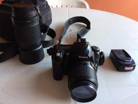 Câmera Digital Nikon D50 Com Lentes Nikon 18-55 E 70-300