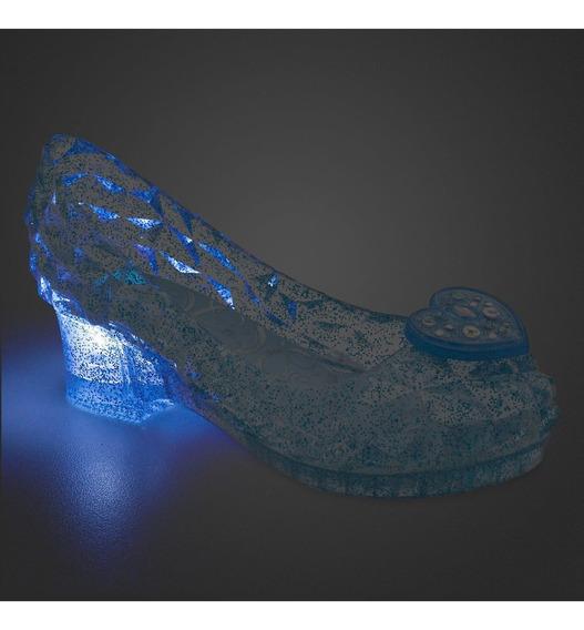 Sapato Cinderela C/luz Original Disney Store P/entrega