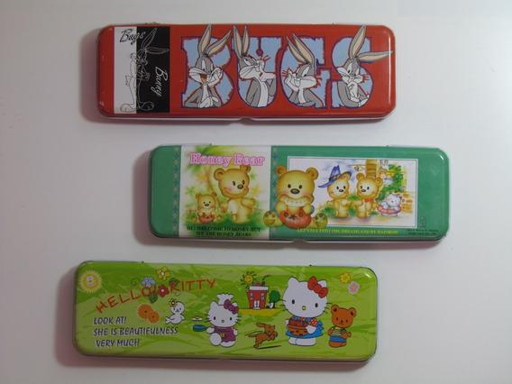 Combo Cartucheras Pequeñas.bugs Bunny.hello Kitty.honey Bear
