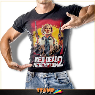 Camiseta Red Dead Redemption 2 Sadie Adler Stamp For All