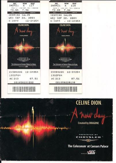 Ingresso Do Show Da Celine Dion Em 22-09-2004 Las Vegas