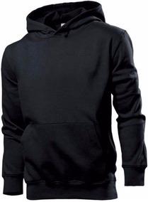 Blusa De Frio Casaco Moletom Moleton Masculino Liso Preto