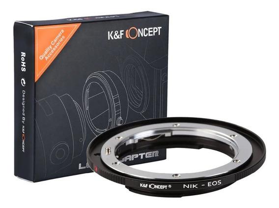 Adaptador De Lentes Nikon Para Canon Corpo Nik-eos Ef C/ Nfe