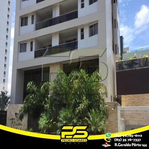 Apartamento Com 3 Dormitórios À Venda, 112 M² Por R$ 620.000 - Manaíra - João Pessoa/pb - Ap2481