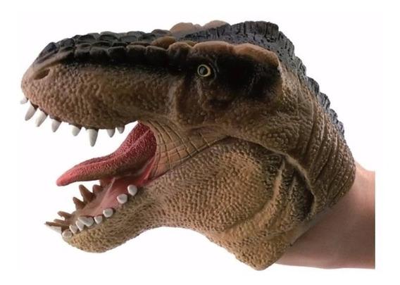 Dinossauro Dino Fantoche Dtc Marrom
