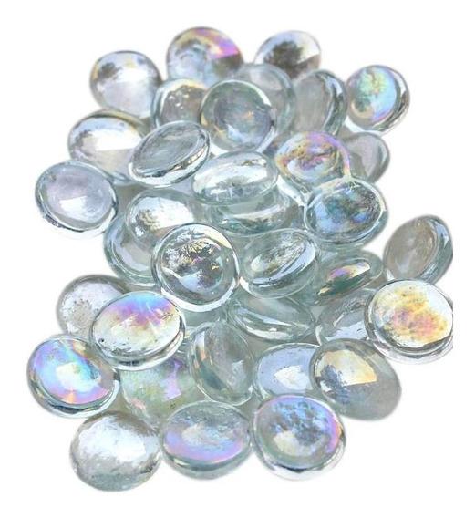 Gema Vidro Pedra Vaso Aquário Transparente-500g/110unid