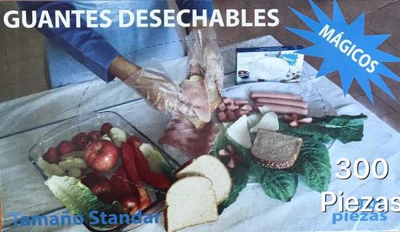 Guante Plástico Desechable Para Manejo De Alimentos 300pz