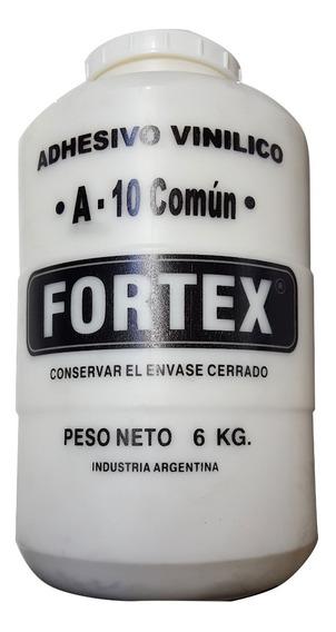 Adhesivo Para Madera Cola Vinilica Fortex A-10 X 6 Kg Pegam.