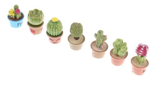 Imagen 1 de 10 de 7 Piezas 1:12 Plantas Suculentas Con Maceta En Miniatura
