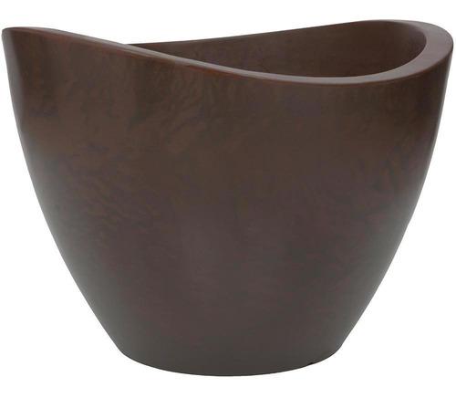 Imagem 1 de 1 de Vaso Em Polietileno Cone Copacabana 65x45cm Rusty