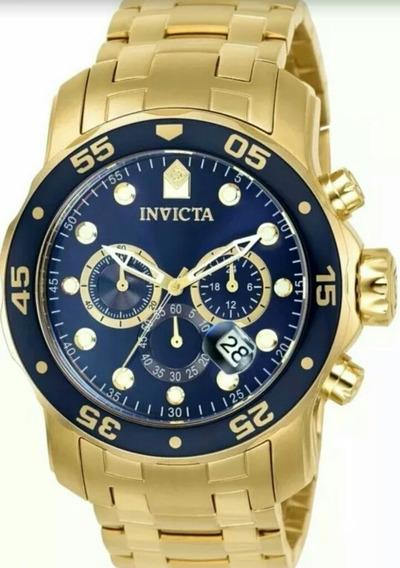 Relógio Invicta Pro Diver Banhado Ouro 18k 12 Vezes S/ Juros