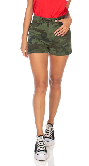 Shorts Jeans Denim Zero Pin Up Camuflado-dz6354