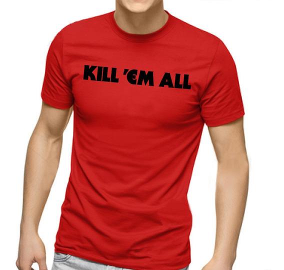 Camiseta Masculina Metallica Kill Em All - 100% Algodão