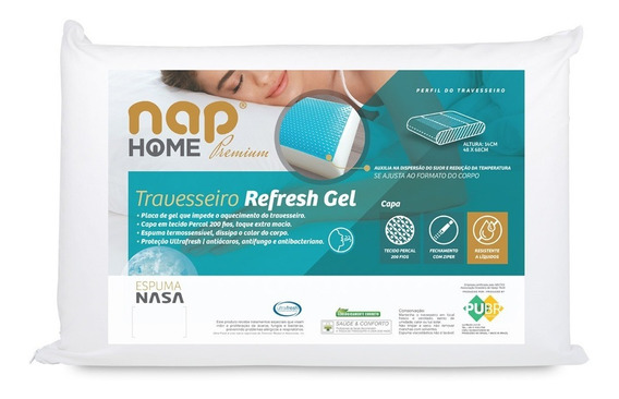 Travesseiro Nasa - Nap Refresh Gel - Melhor Preço!