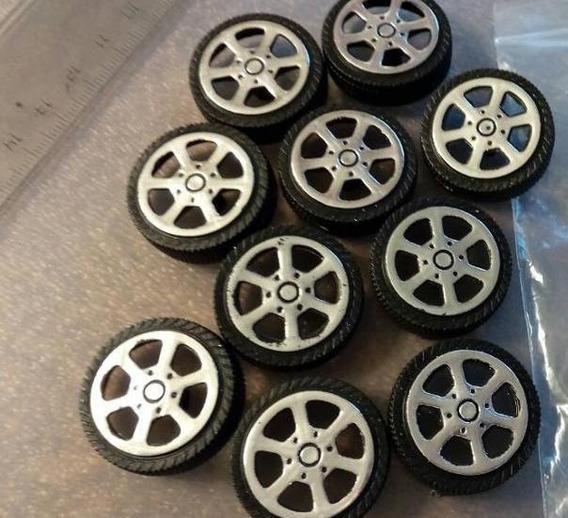 Rodas Para Miniaturas 1/23 De Plástico Atacado 4 Unidades